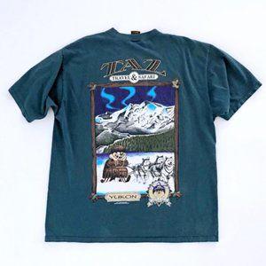 VINTAGE Men's Taz Travel Safari Graphic T-Shirt XL